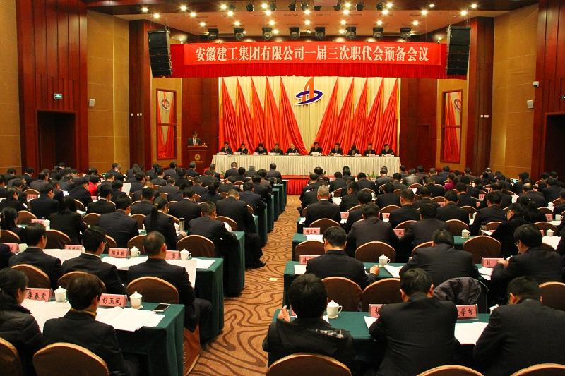 安徽建工集团一届三次职代会召开预备会议和...